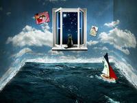 сказка в окне