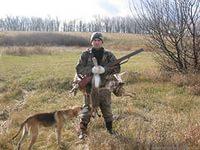 охотник и гончая