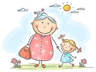 бабушка и внуч